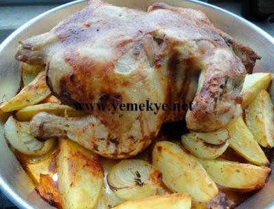 Fırında Bütün Tavuk